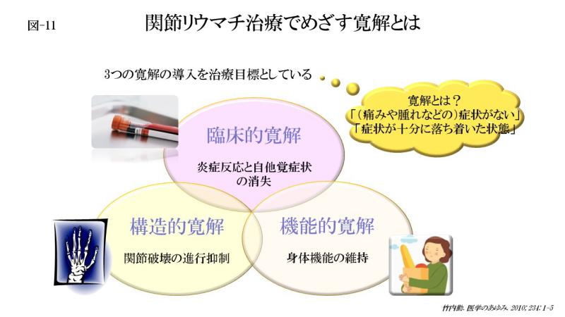 関節リウマチ治療でめざす寛解とは(図-11)
